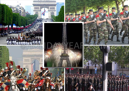 pictures of bastille day in france